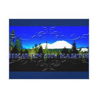 地球|のお金山の天国 キャンバスプリント