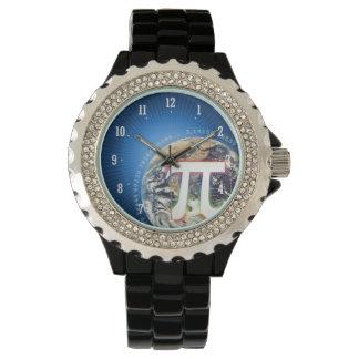 地球 のギークの腕時計のPi数 腕時計