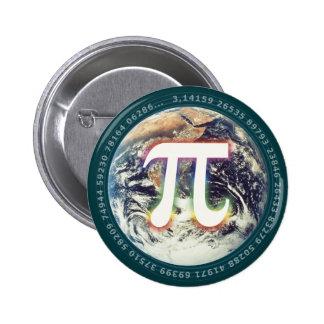 地球|の数学のPi数 5.7cm 丸型バッジ