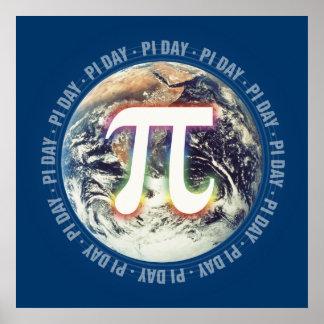 地球|の数学のPi日を祝って下さい ポスター
