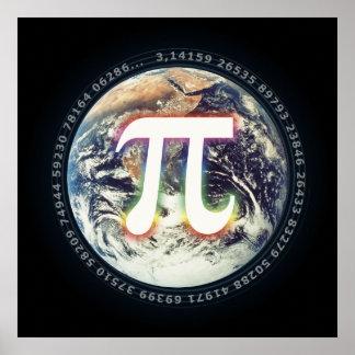 地球|の数学のPi日 ポスター