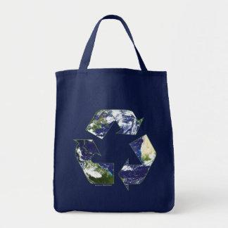 地球-リサイクルします トートバッグ