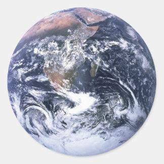 地球 丸形シールステッカー
