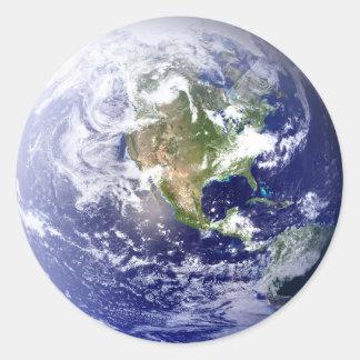 地球-円のステッカー ラウンドシール