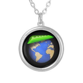 地球-地球の休日の平和のエンドウ豆 ジュエリー