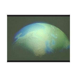 地球。 (地球; 惑星; 宇宙; world_Space場面 キャンバスプリント