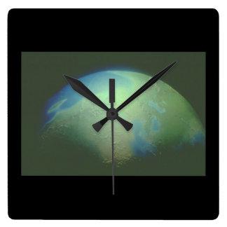 地球。 (地球; 惑星; 宇宙; world_Space場面 スクエア壁時計