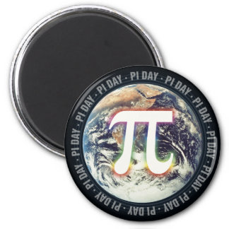 地球-数学の磁石のカラフルなPi日 マグネット