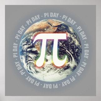 地球-数学ポスターのPi日 ポスター