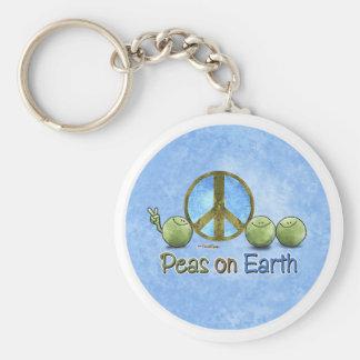 地球-環境にやさしいことをしようのkeychainのエンドウ豆 キーホルダー