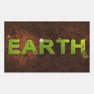 地球、環境のステッカー 長方形シール・ステッカー