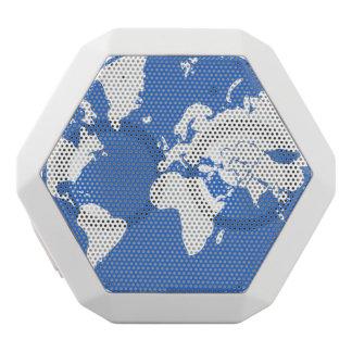 地球/白いBoombotのカスタムなレックス ホワイトBluetoothスピーカー