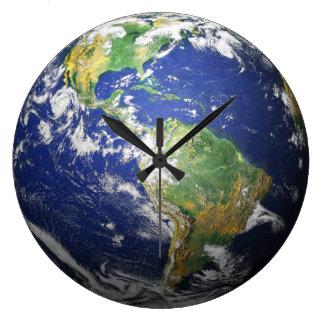 地球- 3D効果 ウォールクロック