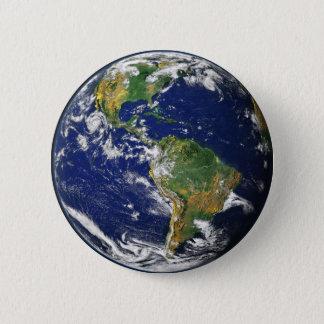 地球 5.7CM 丸型バッジ