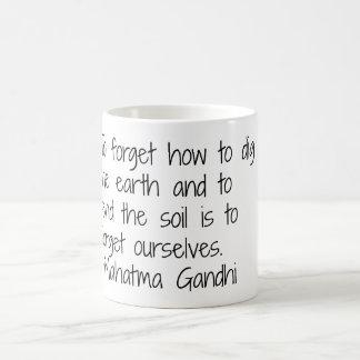 地球- Gandhi コーヒーマグカップ