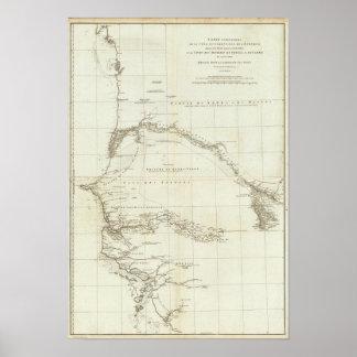 地理的なノートが付いている西アフリカ ポスター