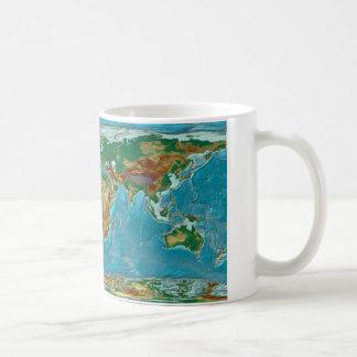 地理的な世界地図 コーヒーマグカップ