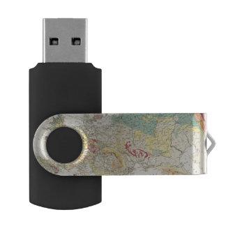 地質地図ヨーロッパ USBフラッシュドライブ