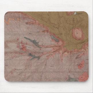地質学の地図、イエローストーンの国民の部品、ワイオミング3 マウスパッド