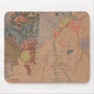 地質学の地図、イエローストーンの国民の部品、ワイオミング マウスパッド
