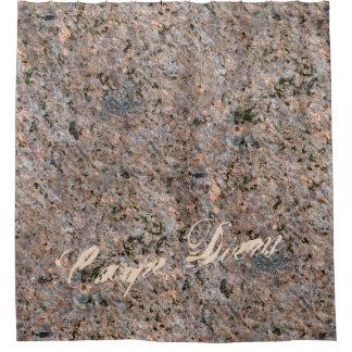 地質学の自然の写真の石の質文字 シャワーカーテン
