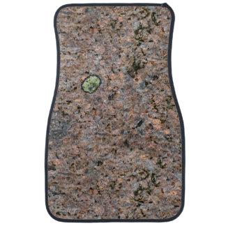 地質学の自然の石の質の緑のコケ カーマット