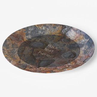 地質学のSedementaryの石の表面文字 ペーパープレート