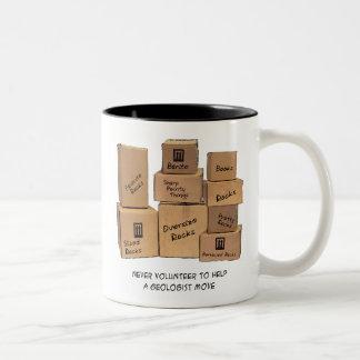 地質学者の移動ユーモア ツートーンマグカップ