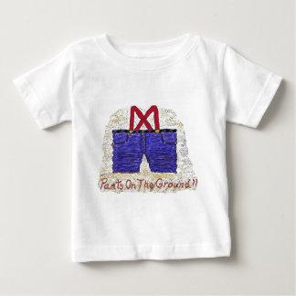 地面のズボン!! ベビーTシャツ