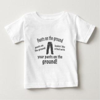 地面のズボン! ベビーTシャツ