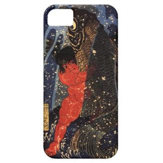 坂田金時と巨鯉、国芳、Sakata Kintoki及び巨大なコイ、Kuniyoshi iPhone SE/5/5s ケース