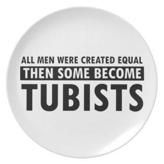 均等に作成されたtubistsのデザイン プレート