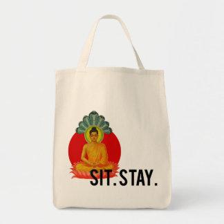坐らせて下さい。 滞在。 オーガニックなバッグ トートバッグ