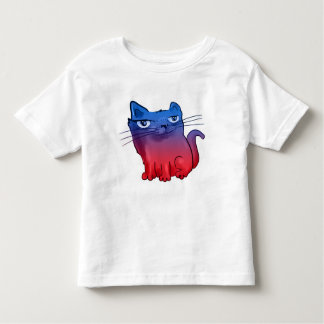坐り、微笑の甘い子猫の漫画 トドラーTシャツ