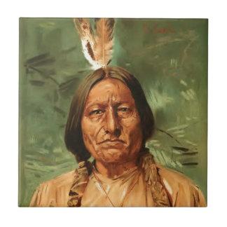 坐Bullはウィリアム・ギルバートゴール1890年によって絵を描きました タイル