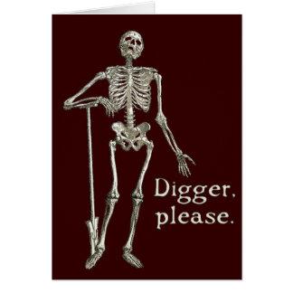坑夫、お願いします グリーティングカード