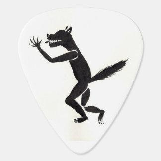 垂涎の狼人間のギターピック ギターピック