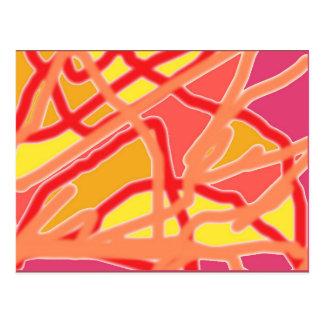 型枠のデジタル芸術の郵便はがきへの無秩序-ピンク ポストカード
