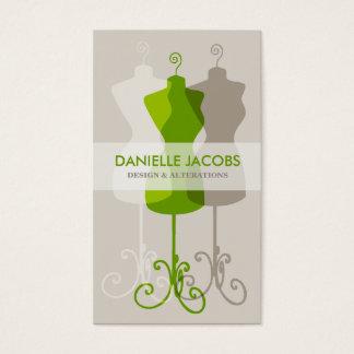 型枠の変化に服を着せて下さい及びデザインカード緑を作って下さい 名刺
