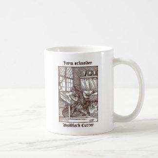 型枠シュナイダー- Woodblockのカッター コーヒーマグカップ