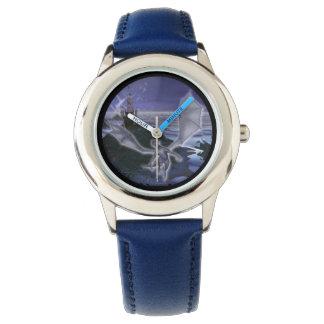 城およびドラゴンの子供の調節可能な斜面の腕時計 腕時計