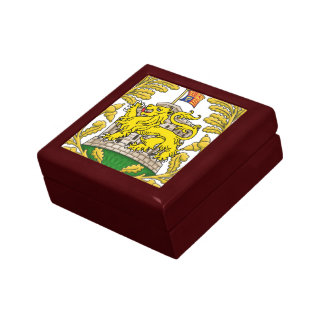 城および紋章学のライオンの記念品箱(大きい) ギフトボックス