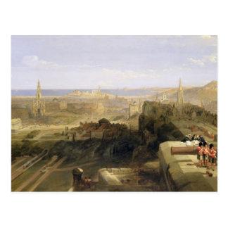 城からのエジンバラ、1847年(キャンバスの油) ポストカード
