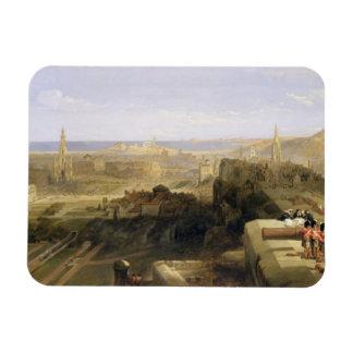 城からのエジンバラ、1847年(キャンバスの油) マグネット