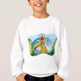 城のまわりで飛んでいる妖精 スウェットシャツ