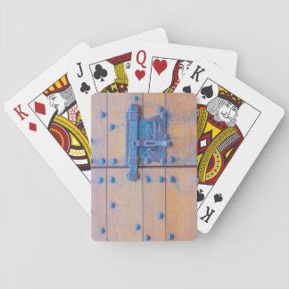 城のトランプのポーカーのトランプの   ドア トランプ