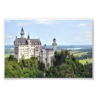 城のノイシュヴァンシュタイン城のババリアドイツ フォトプリント