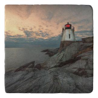 城の丘の灯台の日没 トリベット