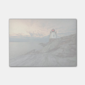 城の丘の灯台の日没 ポストイット