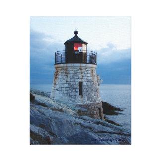 城の丘の灯台ニューポートのRIのキャンバス キャンバスプリント